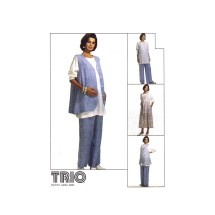 Maternity Jumper Top Vest Pants McCalls 6966 Vintage Sewing Pattern Size 10 - 12 - 14