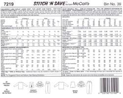 McCall's 7219