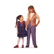 Girls Lined Vest Top Skirt Pants McCalls 7219 Sewing Pattern Size 7 - 8 - 10 - 12