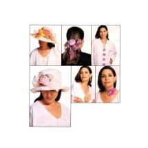 Assorted Flowers Decorate Fashion Accessories McCalls 898 Sewing Pattern