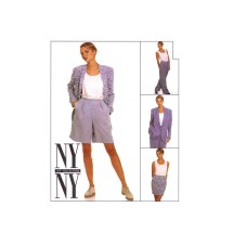 Misses Jacket Skirt Pants Shorts Tank Top NY Collection McCalls 7539 Sewing Pattern Size 12 - 14 - 16