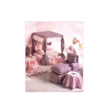 Barbie Doll Furniture Living Room Bedroom Canopy McCalls 8140 Sewing Pattern