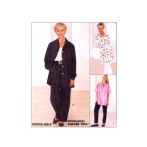 Misses Oversized Shirt and Pull-On Pants McCalls 8092 Sewing Pattern Size 14 - 16 - 18