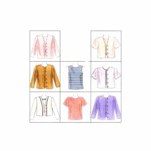 McCalls 8155 Misses Top and Jacket in Two Lengths Sewing Pattern Size 4 - 6