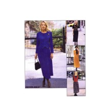 Misses Dress with Vest or Mock Vest McCalls 8457 Sewing Pattern Size 12 - 14 - 16