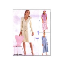 Misses Princess Seam Jacket and Gored Skirt in Two Lengths McCalls 8616 Sewing Pattern Size 8 - 10 - 12