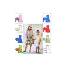 Girls Unlined Jacket Flared Princess Seam Dress McCalls 8627 Vintage Sewing Pattern Size 7 - 8 - 10