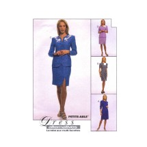 Misses Dress Unlined Jacket and Skirt McCalls 8669 Vintage Sewing Pattern Size 12 - 14 - 16