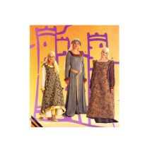 Renaissance Gown Overdress Belt Headpiece Medieval Costumes McCalls 8826 Sewing Pattern Size 12 - 14 - 16