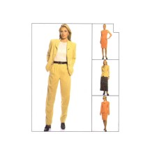 Misses Jacket Dress Pants Skirt McCalls 8907 Sewing Pattern Size 12 - 14 - 16