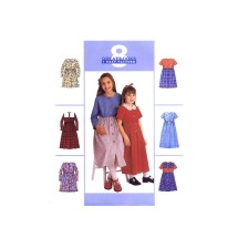 Girls Full Skirt Dress McCalls 8916 Vintage Sewing Pattern Size 7 - 8 - 10