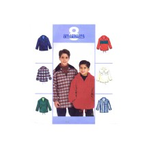 Boys Pullover Tops McCalls 8922 Vintage Sewing Pattern Size 7 - 8 - 10