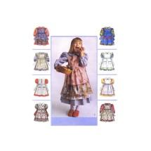 Girls Dress and Pinafore McCalls 8975 Sewing Pattern Size 6 - 7 - 8