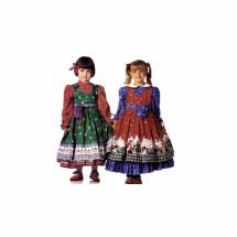 Girls Dress Pinafore Belt Sash Bag Pouch McCalls 9110 Sewing Pattern Size 4 - 5 - 6