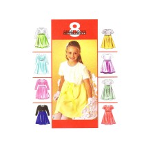 Girls Empire Waist Dress McCalls 9286 Vintage Sewing Pattern Size 7 - 8 - 10