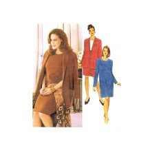 Misses Dress and Unlined Jacket McCalls 9404 Vintage Sewing Pattern Size 10 1/2 - 12 1/2 - 14 1/2