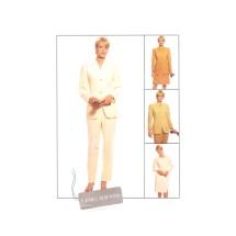 Jones New York Misses Lined Jacket Skirt Pants McCalls 9656 Vintage Sewing Pattern Size 14
