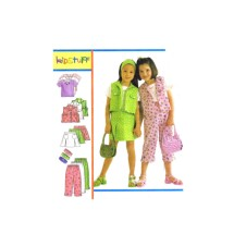 Girls Top Vest Skirt Pants Headband McCalls 2143 Sewing Pattern Size 6 - 7 - 8