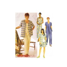 Womens Shirt Dress Top Pants Shorts McCalls 2208 Sewing Pattern Full Figure Size 22 - 24 - 26