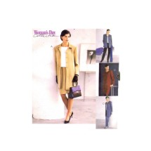 McCalls 2400 Misses Unlined Jacket Top Pants Skirt Sewing Pattern Size 8 - 10 - 12