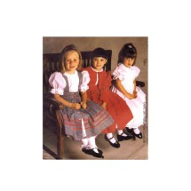 Girls Lined Jacket Prinafore Dress Ruffles and Lace Treasured Collection McCalls 2491 Sewing Pattern Size 6 - 7 - 8