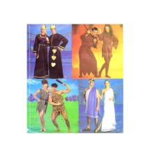 Roman Couple Cave People King and Queen of Hearts Devilish Pair Halloween Costumes McCalls 2895 Sewing Pattern Size XS - S - M - L - XL