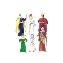 Religious Nativity Costumes Shepherd King Angel McCalls 2340 Sewing Pattern Size 12 - 14