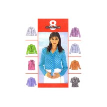 Misses Front Button Shirts McCalls 3187 Sewing Pattern Size 8 - 10 - 12