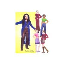 Girls Cardigan Jacket Top Skirt Pants McCalls 3338 Sewing Pattern Size 12 - 14 - 16
