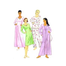 Misses Robe Belt Pajama Top Pants Nightgown McCalls 3893 Sewing Pattern Size 16 - 18 - 20 - 22