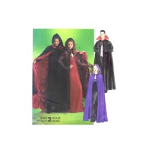Misses and Mens Witch Vampire Dracula Gothic Cape Halloween Costumes McCalls 4139 Sewing Pattern Size S - M - L - XL