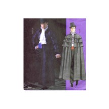 Mens Victorian Cape Phantom of the Opera Coat Steampounk Costumes McCalls 4550 Sewing Pattern Size XLG - XXXL Chest 46 - 48 - 50 - 52 - 54 - 56
