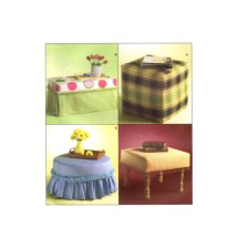Trading Spaces Ottomans McCalls 4734 Sewing Pattern