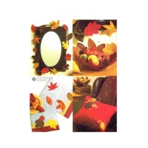Table Runner Placemats Garland Bowl Leaf Embellishments Autumn Fall Thanksgiving McCalls 5947 Sewing Pattern
