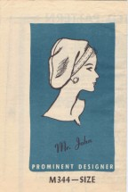 Mr. John All American Beret Hat Prominent Designer M344 Vintage Sewing Pattern