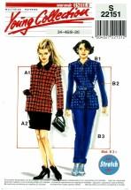 Neue Mode 22151 Jacket Pants Skirt Suit Size 8 - 20