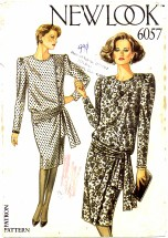 New Look 6057 Sewing Pattern Blouson Dress Size 8 - 18 - Bust 31 1/2 - 40