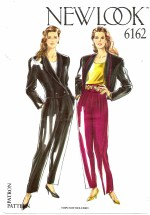 New Look 6162 Sewing Pattern Jacket Pants Suit Size 8 - 18 Bust 31 1/2 - 40