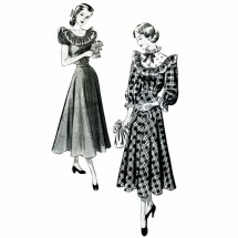 1940s Puff Sleeve Dress New York 411 Vintage Sewing Pattern Size 11 Bust 29