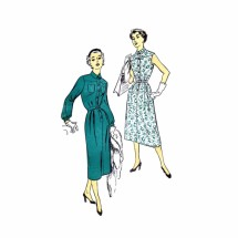 1950s Shirtwaist Dress New York 1429 Vintage Sewing Pattern Size 18 Bust 36