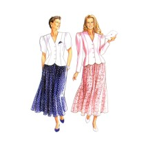 Misses Jacket and Skirt New Look 6555 Vintage Sewing Pattern Size 6 - 8 - 10 - 12 - 14 - 16 - 18