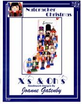 X's & Oh's Nutcracker Christmas Stocking Cross Stitch Pattern