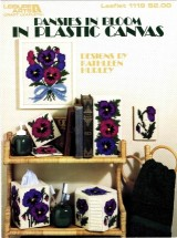 Leisure Arts Pansies in Bloom in Plastic Canvas Leaflet