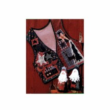 Christmas Vest and Santa Doll Northern Memories Penn's & Needles #212 Sewing Pattern Size S - M - L - XL
