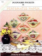 Potpourri Pockets in Perforated Paper Cross Stitch Leaflet