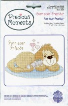 Precious Moments Furr-ever Friends Counted Cross Stitch Kit