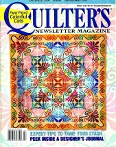 Quilter's Newsletter Magazine March 2006