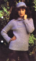 Ribbed Sweater and Hat Knitting Pattern