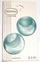 Vintage Scovill Dritz Sky Blue Plastic Buttons