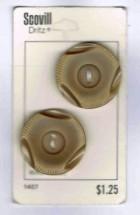 Vintage Scovill Dritz Beige Plastic Buttons